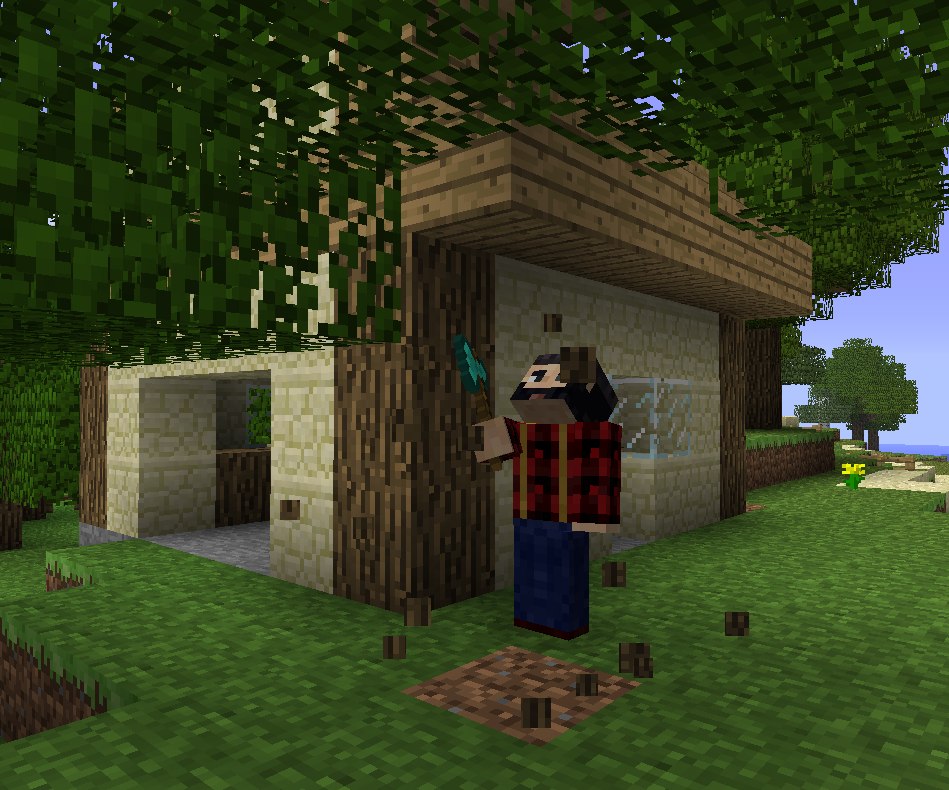 how to download lumberjack mod minecraft
