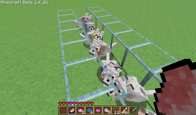 how to make a colored collar in minecraft