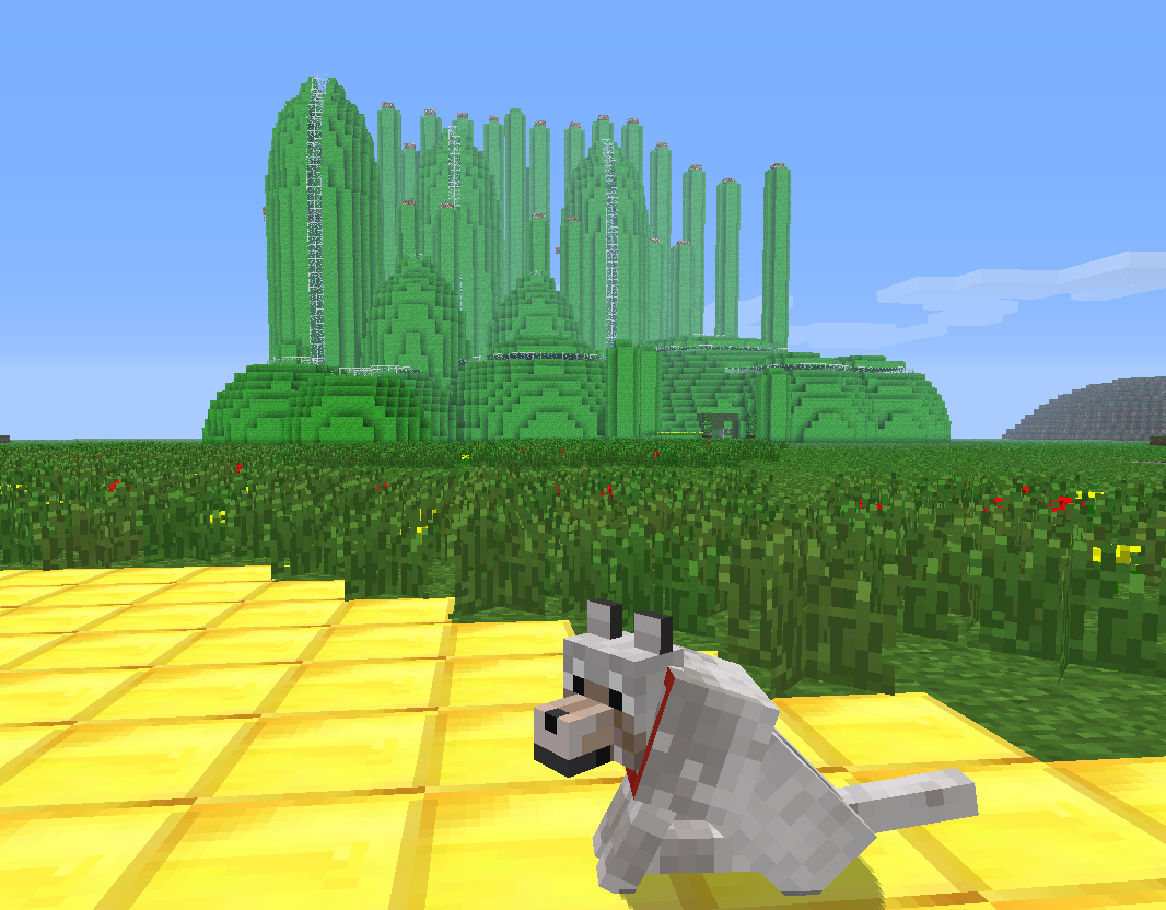 The land of oz is a minecraft world modeled after the world of oz