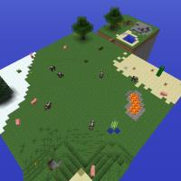 Floating Doom Island Minecraft Survival Island Map