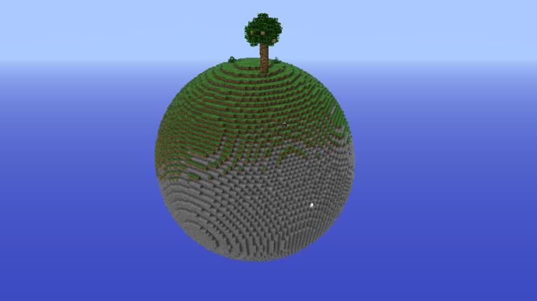 майнкрафт pe как сделать круглую планету