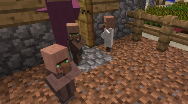 how to make villagers with hair in minecraft