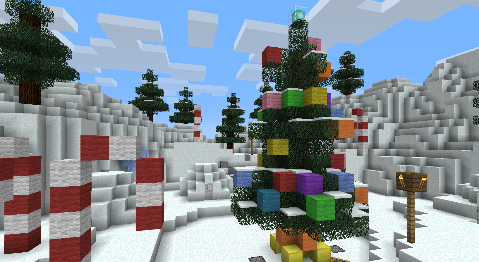Christmas Minecraft World.Minecraft Christmas Adventure Map Surviving Minecraft