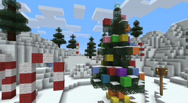 minecraft christmas tree adventure map