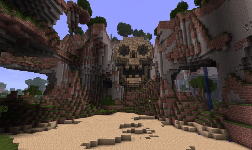 Build Your Own Minecraft Skull Mountain Lair!