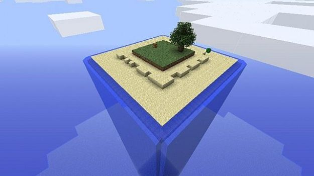 minecraft square survival sky island