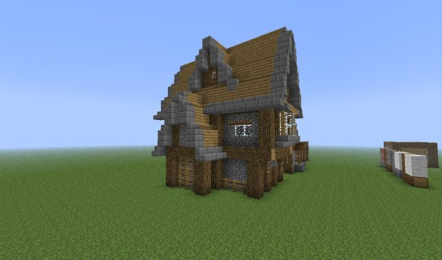 How to build a wooden house in minecraft pe step by step for How to build a wooden house step by step