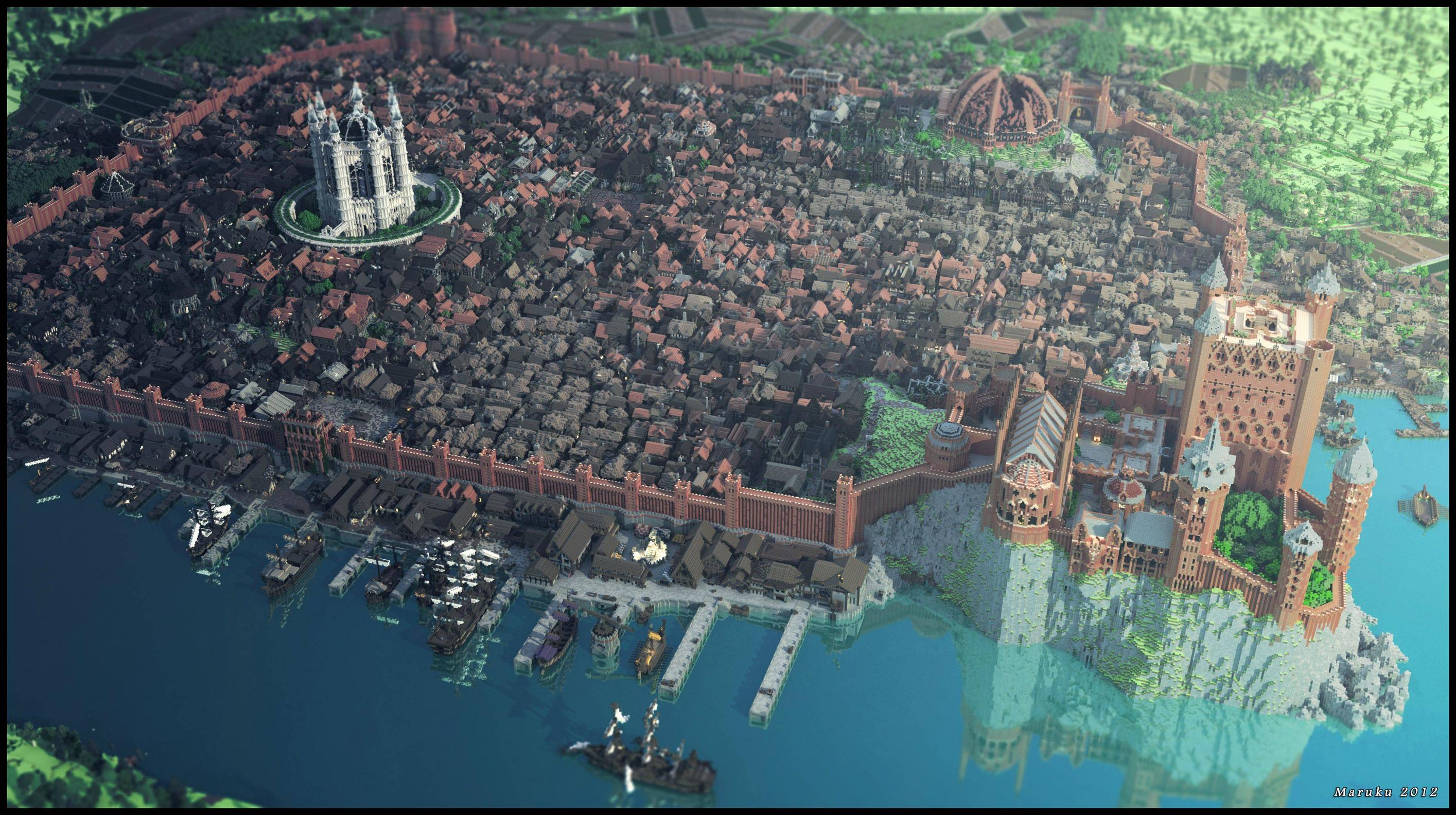 King's landing minecraft game of thrones server