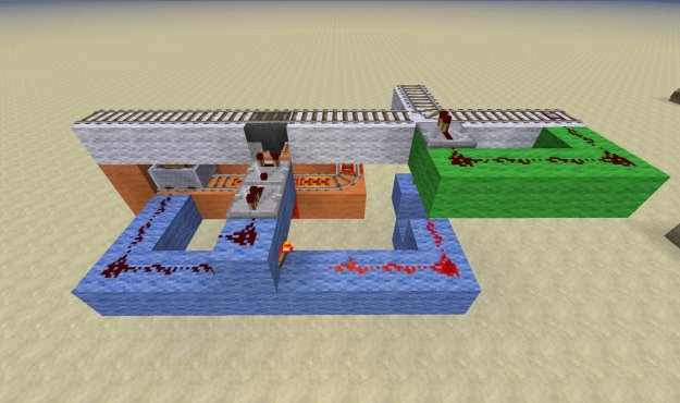 minecraft redstone circuit for hopper postal service