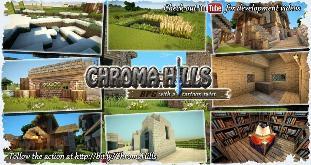 chroma hills minecraft cartoon rpg texture pack