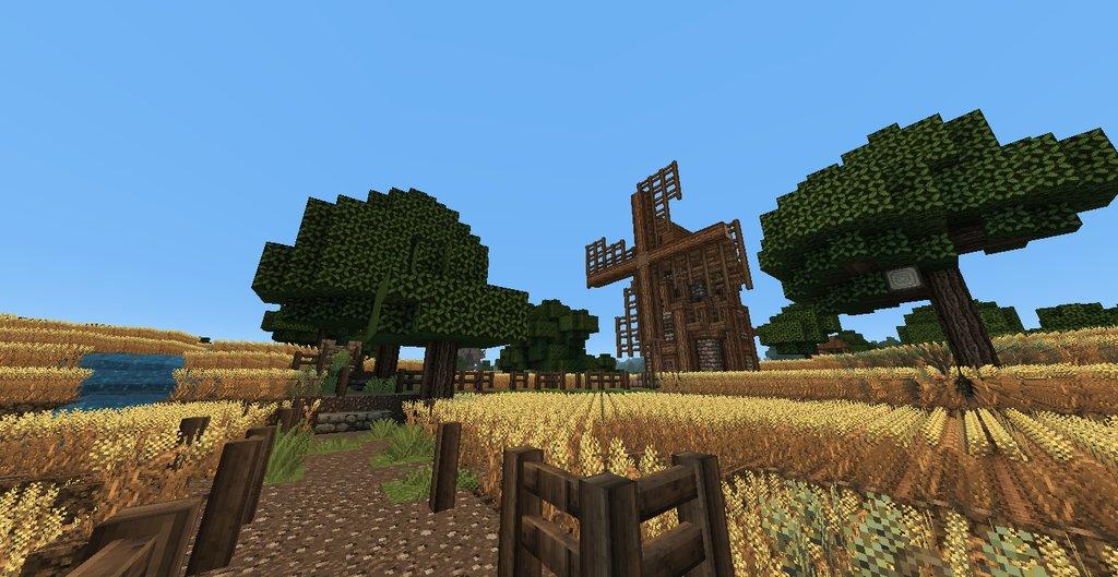 Medieval / Skyrim Wheat Farm Minecraft Map Download ...