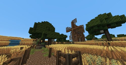 Medieval / Skyrim Wheat Farm Minecraft Map Download