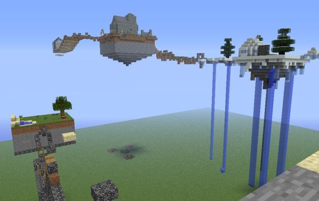 minecraft sky island map