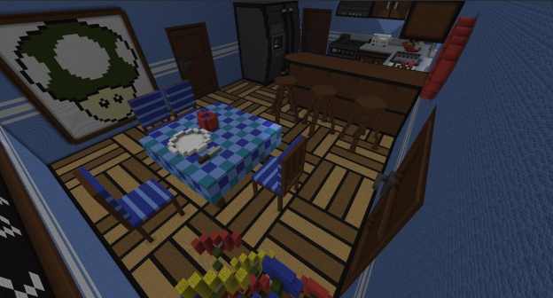 minecraft life size kitchen