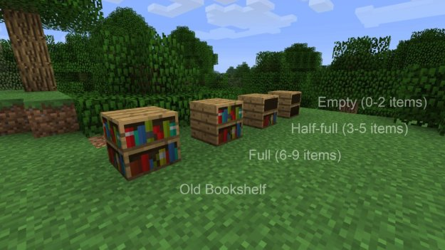 minecraft useable bookshelf mod download