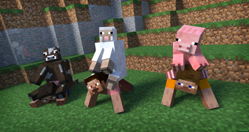 mobs ride mobs in minecraft