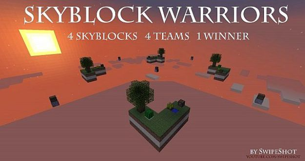 skyblock warriors minecraft pvp map download