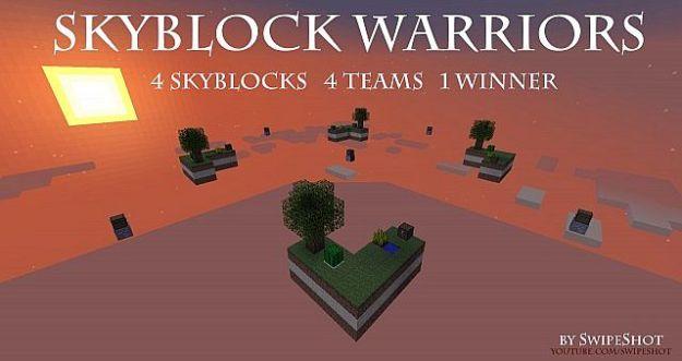 skyblock warriors minecraft pvp map download