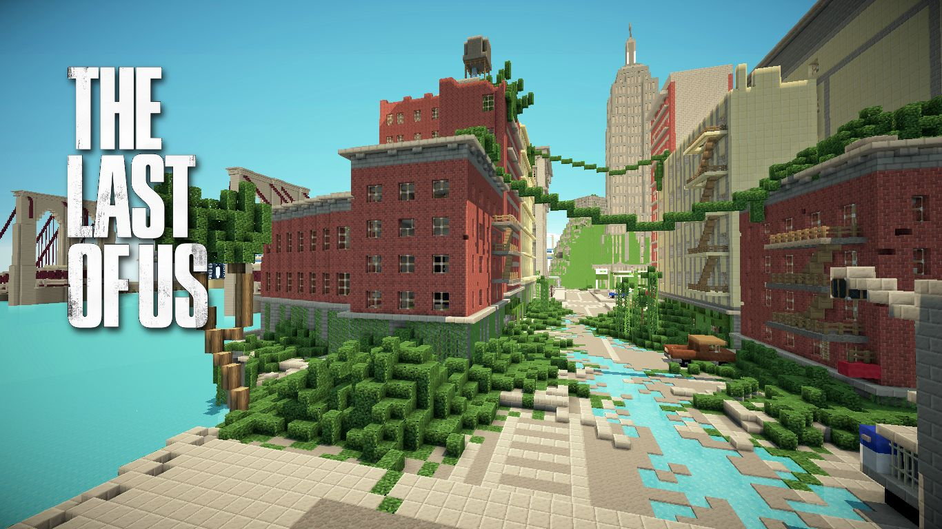 The Last Of Us Minecraft Apocalypse City Adventure Map Download - The last of us multiplayer maps
