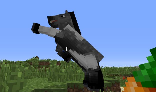 minecraft horse bucking