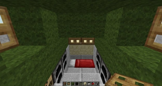 minecraft house tank inside