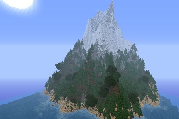 minecraft mountain island survival map download