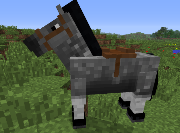 minecraft saddled horse