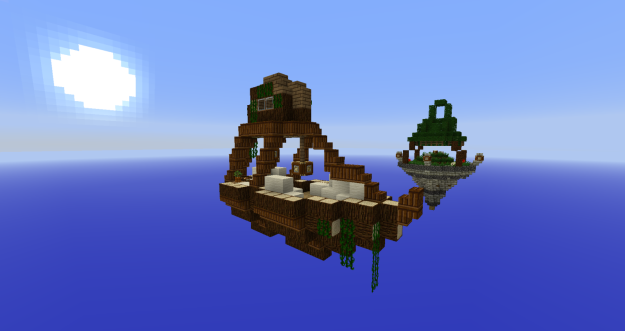 minecraft sky ship survival map