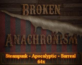 broken anachronism minecraft 64x hd steampunk texture pack