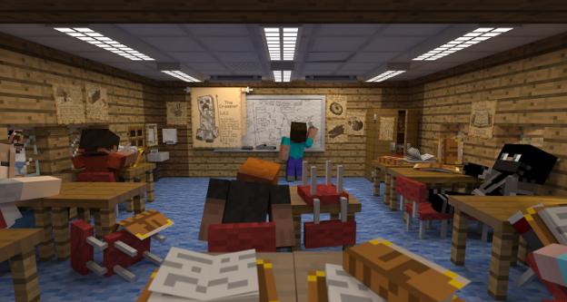 minecraft school wallpaper