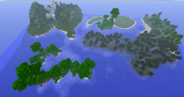 minecraft biome islands