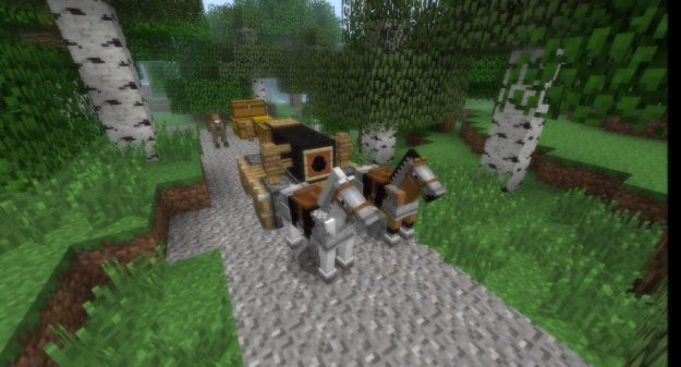 minecraft carriage minecraft horse and cart