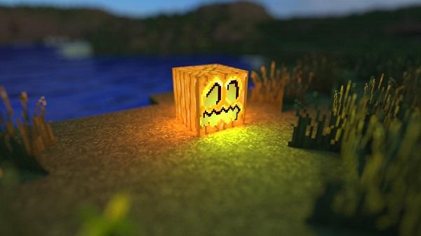 minecraft jack o lantern background