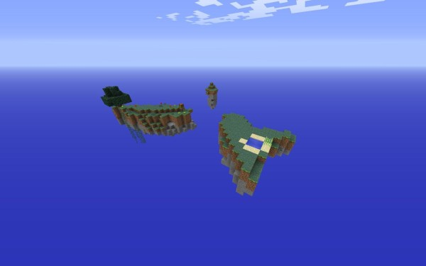 minecraft new sky island map download