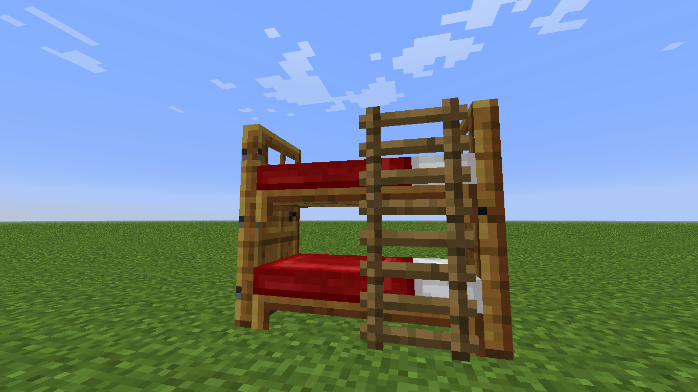 How To Make Bunk Beds Minecraft