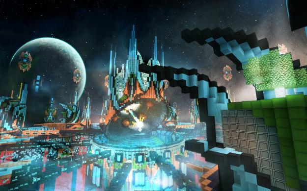 new genesis minecraft fantasy wallpaper download
