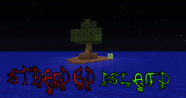 stranded island minecraft survival island map