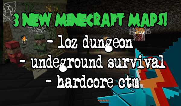 three new minecraft map downloads