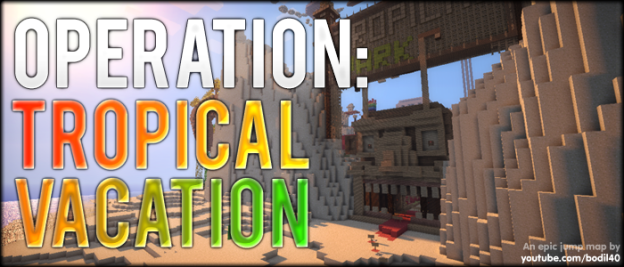 minecraft epic jump map tropic vacation